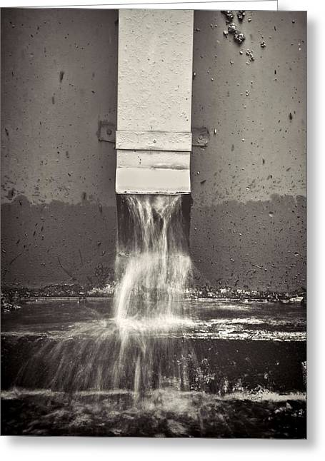 Downspout Greeting Card by Rudy Umans
