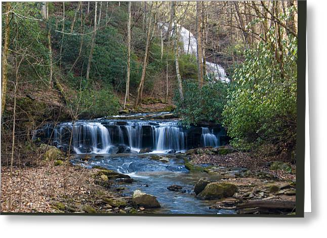 downstream from Pearsons Falls Greeting Card by Chris Flees