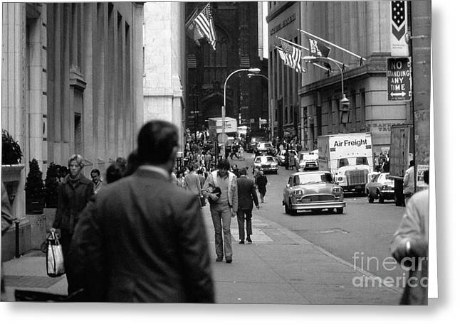 Knicks Photographs Greeting Cards - Downtown 1978 Greeting Card by Bob Stone