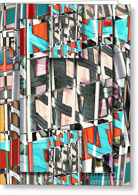 Abstract Style Greeting Cards - Downtown 2 Greeting Card by Elena Nosyreva