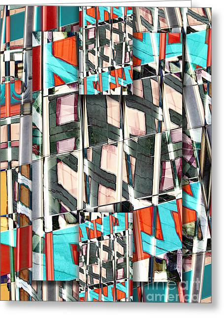 Urban Buildings Digital Greeting Cards - Downtown 2 Greeting Card by Elena Nosyreva