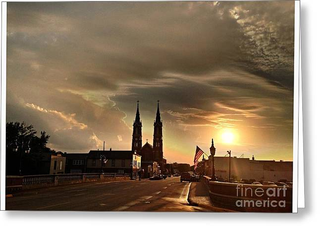 Downtown After The Rain Greeting Card by Garren Zanker