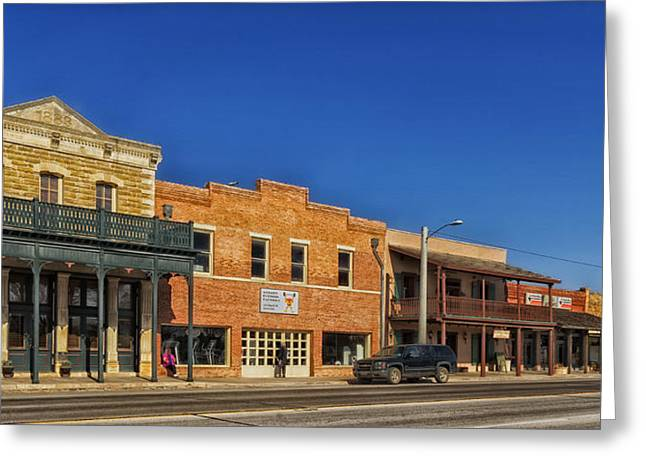 Small Town Life Greeting Cards - Downtown Albany Texas Greeting Card by Mountain Dreams