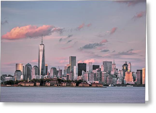 Midtown Digital Art Greeting Cards - Downtown at dusk Greeting Card by Eduard Moldoveanu