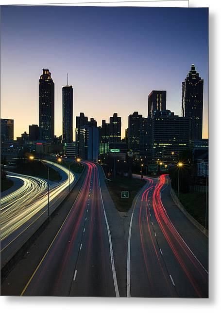 Vanguard Greeting Cards - Downtown Atlanta Greeting Card by Cecil Holmes
