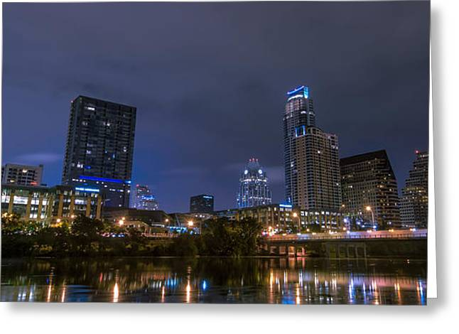 Austin Downtown Greeting Cards - Downtown Austin Greeting Card by David Morefield