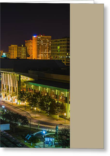 Downtown Baton Rouge - Triptych Mid Panel Greeting Card by Andy Crawford
