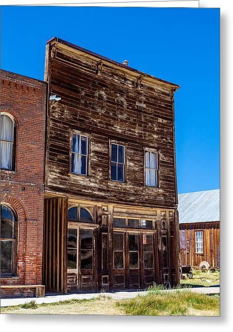 Grazing Snow Greeting Cards - Downtown Bodie Greeting Card by John Crowe