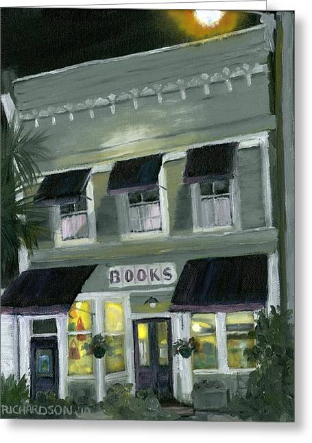 Downtown Franklin Greeting Cards - Downtown Books 11 Greeting Card by Susan Richardson