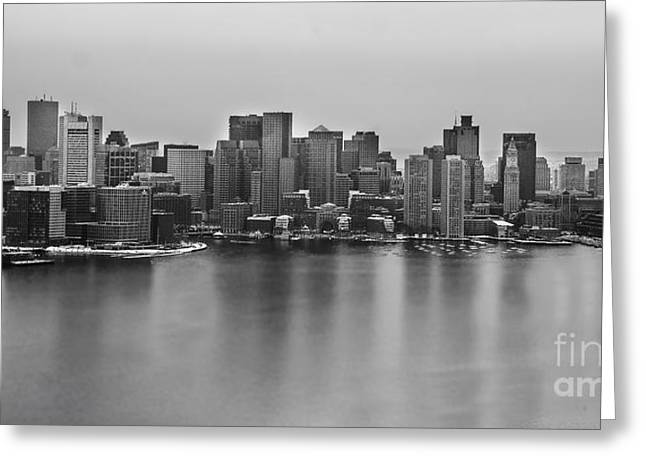 Black Mass Greeting Cards - Downtown Boston Greeting Card by Twenty Two North Photography