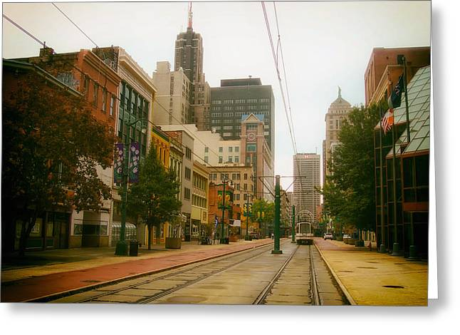 Analog Greeting Cards - Downtown Buffalo Greeting Card by Mountain Dreams