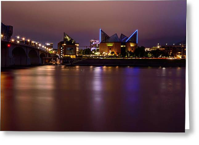 Tennessee Landmark Greeting Cards - Downtown Chattanooga Greeting Card by John Ray