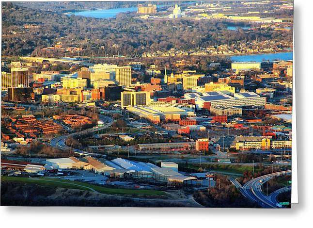 Chattanooga Tennessee Greeting Cards - Downtown Chattanooga  Greeting Card by Mountain Dreams