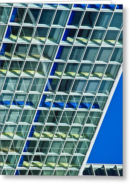 Squares. Linear Greeting Cards - Downtown Greeting Card by Christi Kraft
