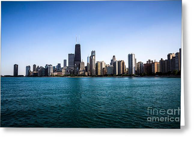 Architecture Greeting Cards - Downtown City Buildings in the Chicago Skyline Greeting Card by Paul Velgos