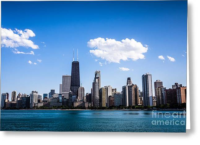 North Side Greeting Cards - Downtown City Skyline of Chicago Greeting Card by Paul Velgos