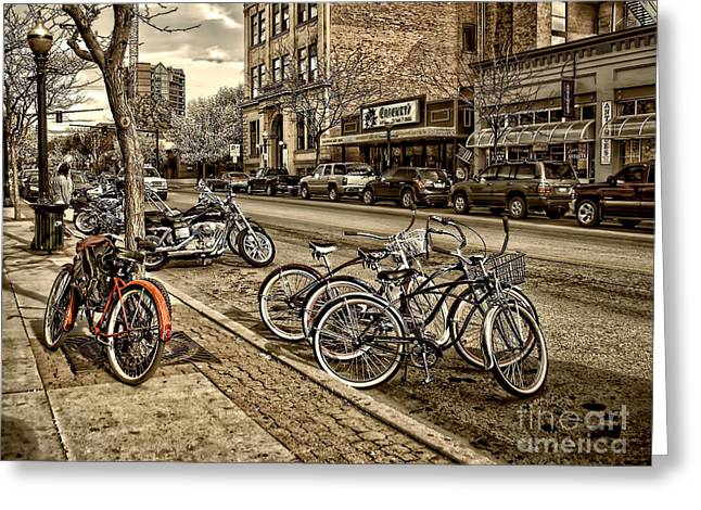 Downtown Coeur d'Alene Idaho Greeting Card by Scarlett Images Photography