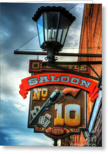 Downtown Deadwood 3 Greeting Card by Mel Steinhauer
