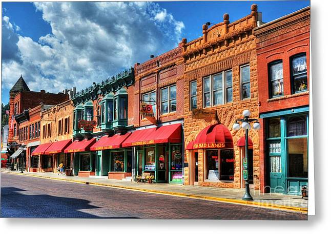 Wild Bill Greeting Cards - Downtown Deadwood Greeting Card by Mel Steinhauer