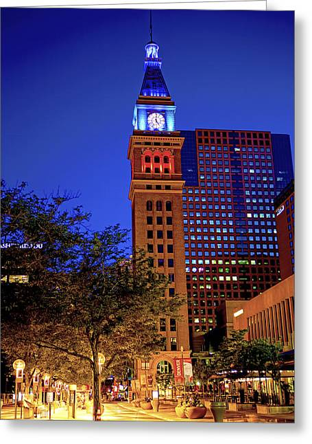 16th St. Mall Greeting Cards - Downtown Denver Just Before Dawn Greeting Card by Patricia Sanders