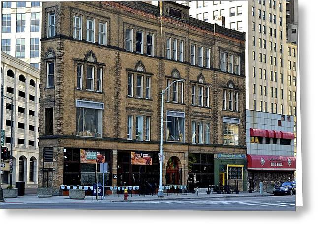 Downtown Detroit Greeting Card by Frozen in Time Fine Art Photography