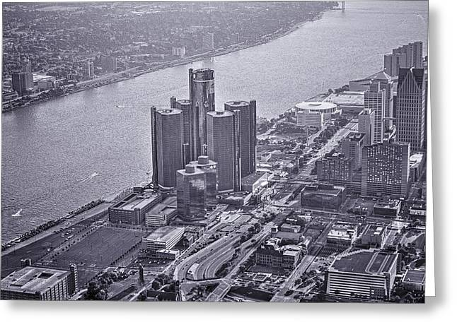 Downtown Detroit Greeting Card by Nicholas  Grunas