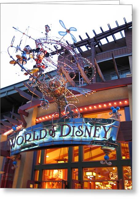 Downs Greeting Cards - Downtown Disney Anaheim - 121211 Greeting Card by DC Photographer
