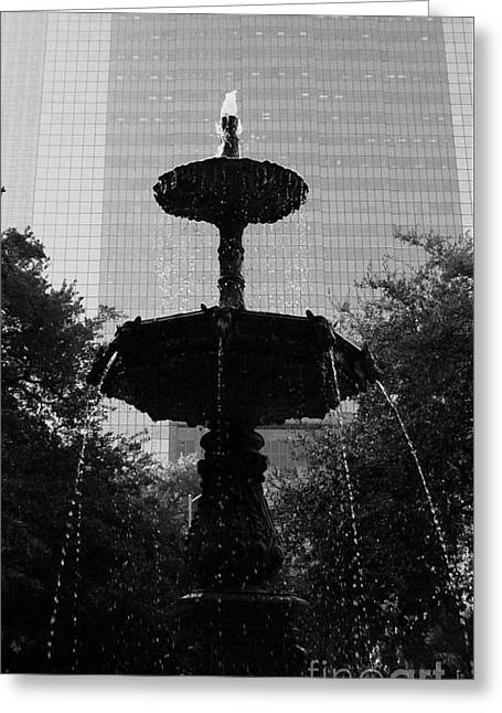 America Sculptures Greeting Cards - Downtown Fountain Greeting Card by Nathan Little