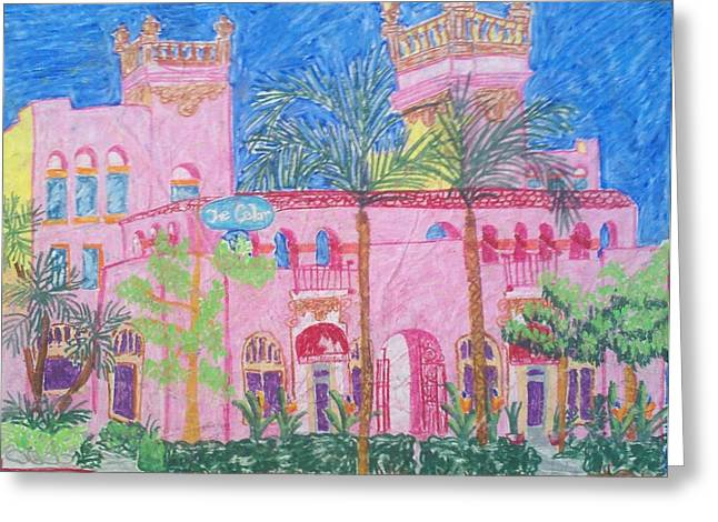 Downtown Pastels Greeting Cards - Downtown Fullerton CA Greeting Card by Joy Elizabeth  Kim
