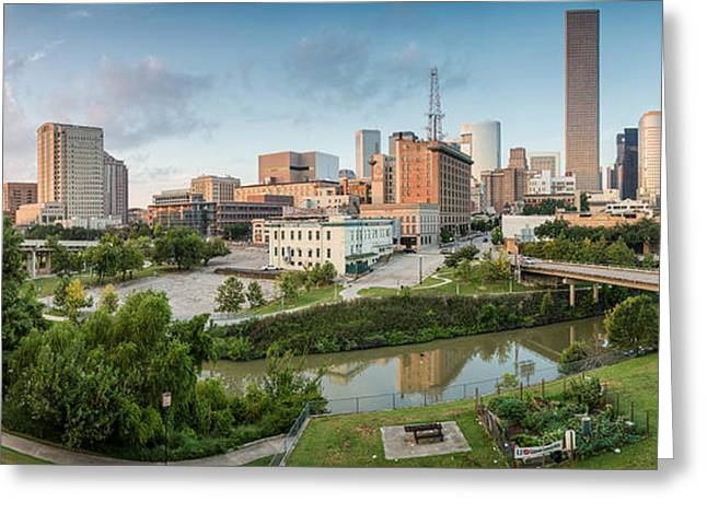 Downtown Franklin Greeting Cards - Downtown Houston from UH-D. September Greeting Card by Silvio Ligutti