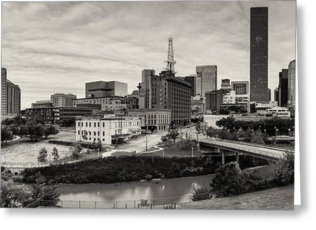 Downtown Houston from UH-D Greeting Card by Silvio Ligutti
