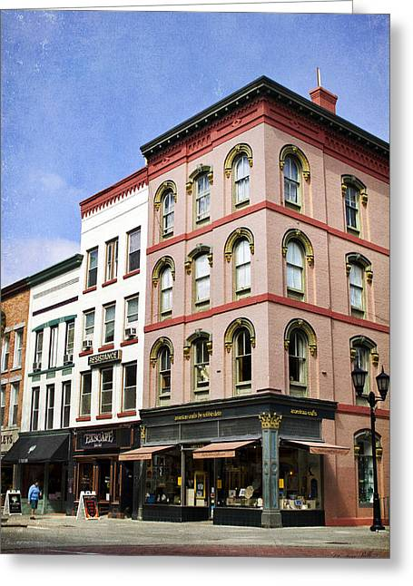 Ithaca Greeting Cards - Downtown Ithaca Architecture  Greeting Card by Christina Rollo