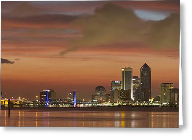 Jacksonville Greeting Cards - Downtown Jacksonville Greeting Card by Jeff Turpin