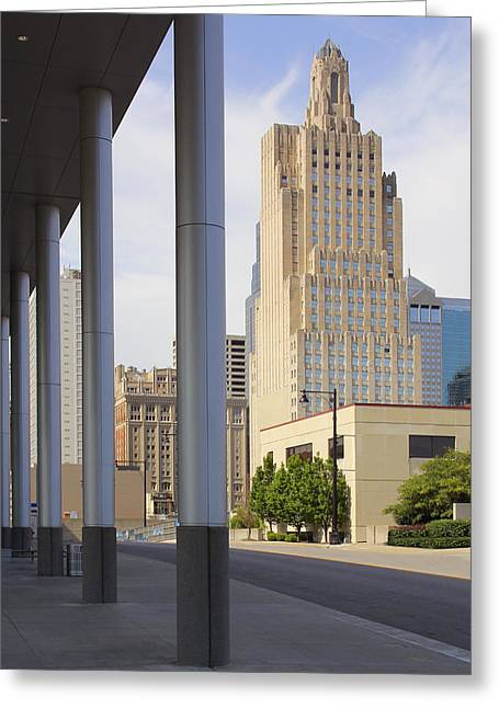 Interesting Digital Greeting Cards - Downtown Kansas City Greeting Card by Mike McGlothlen