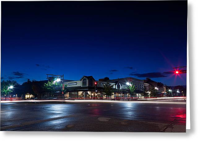 Main Street Greeting Cards - Downtown Lake Geneva Greeting Card by Steve Gadomski