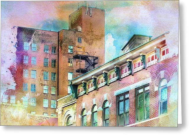 Artography Greeting Cards - Downtown Living In Color Greeting Card by Melissa Bittinger