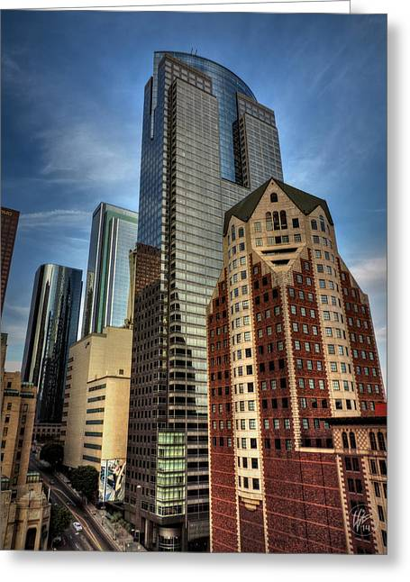 La Downtown Greeting Cards - Downtown Los Angeles 003 Greeting Card by Lance Vaughn