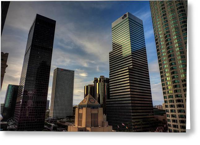 La Downtown Greeting Cards - Downtown Los Angeles 005 Greeting Card by Lance Vaughn