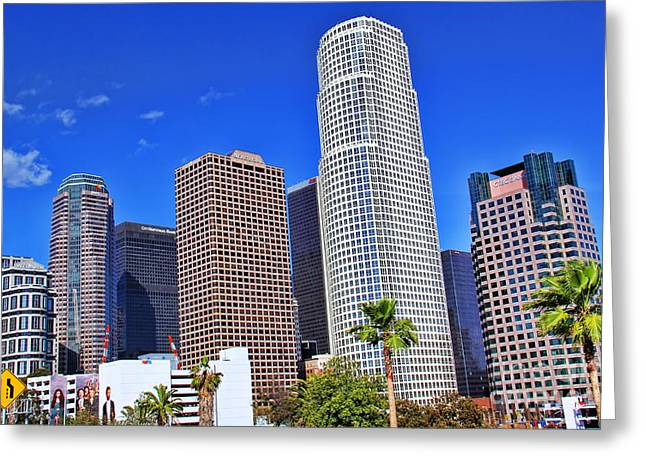 Down Town Los Angeles Greeting Cards - Downtown Los Angeles Greeting Card by Mariola Bitner