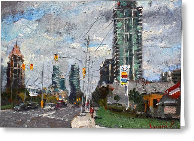 Traffic Greeting Cards - Downtown Mississauga ON Greeting Card by Ylli Haruni