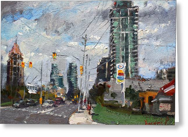 Downtown Mississauga On Greeting Card by Ylli Haruni