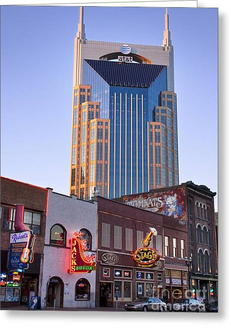Music City Greeting Cards - Downtown Nashville Greeting Card by Brian Jannsen