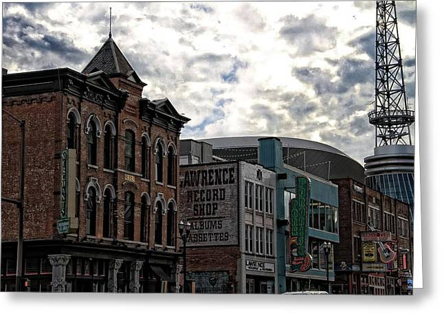 Country Music Town Greeting Cards - Downtown Nashville Greeting Card by Dan Sproul