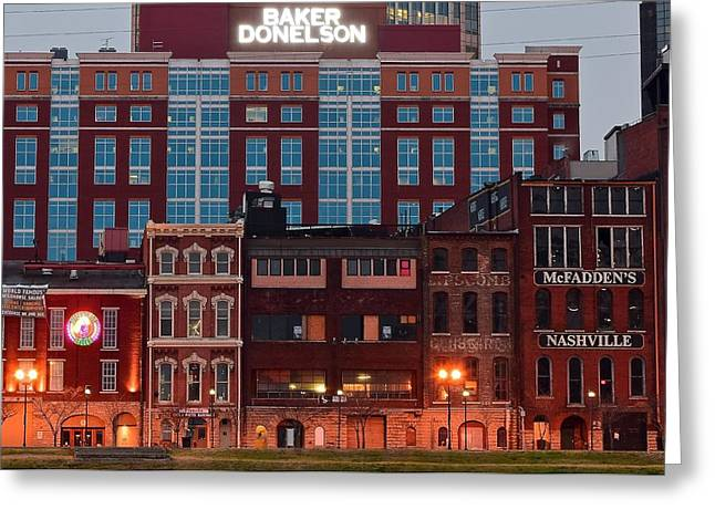 Mcfaddens Greeting Cards - Downtown Nashville Greeting Card by Frozen in Time Fine Art Photography