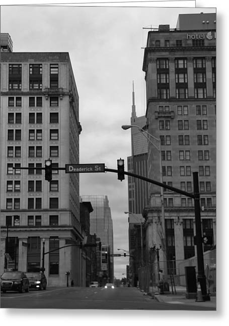 Downtown Nashville Greeting Cards - Downtown Nashville In Black And White Greeting Card by Dan Sproul