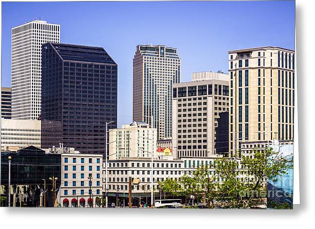 Downtown New Orleans Buildings Greeting Card by Paul Velgos