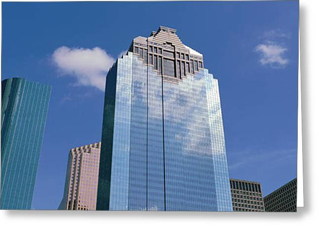 Downtown Office Buildings, Houston Greeting Card by Panoramic Images