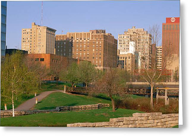 Omaha Greeting Cards - Downtown Omaha Ne Greeting Card by Panoramic Images