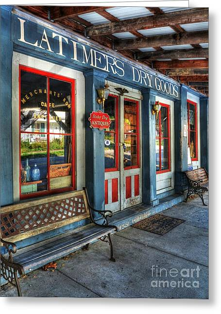 Small Towns Greeting Cards - Downtown Perryville 2  Greeting Card by Mel Steinhauer