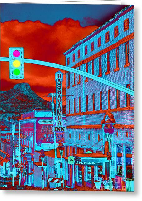 Prescott Digital Greeting Cards - Downtown Prescott Arizona  Greeting Card by K D Graves